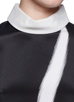 Layered sleeve stripe print shirt