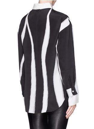 背面 - 点击放大 - 3.1 PHILLIP LIM - Layered sleeve stripe print shirt