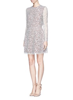 CARVEN Contrast lining lace dress