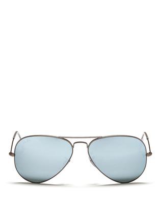 Main View - Click To Enlarge - Ray-Ban - 'Aviator Large Metal' mirror sunglasses