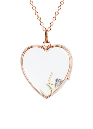 Figure View - Click To Enlarge - Loquet London - 18k yellow gold letter charm - L