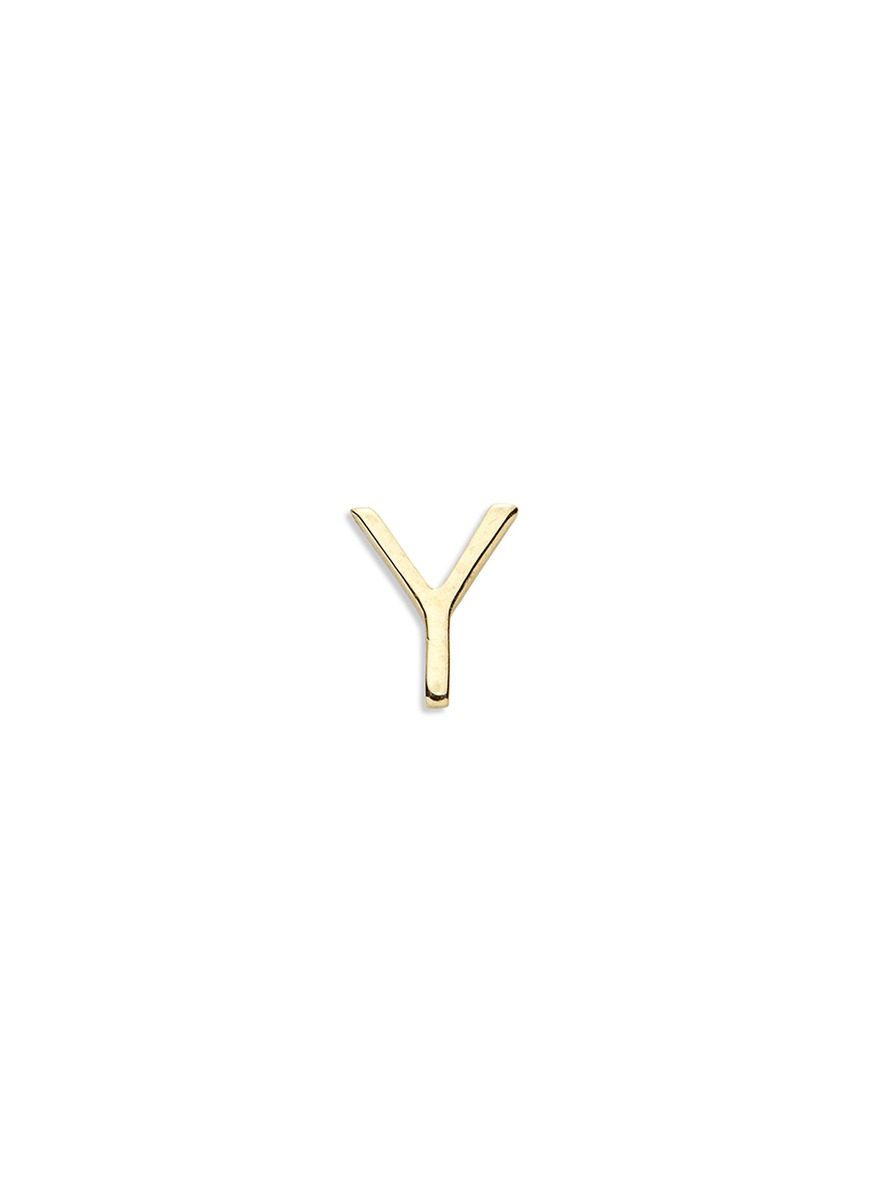18k yellow gold letter charm – Y by Loquet London