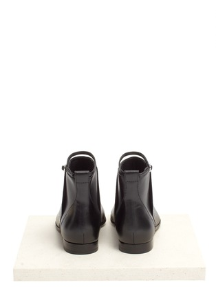 Back View - Click To Enlarge - Alexander Wang  - Leather flat ankle boots