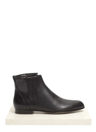 Main View - Click To Enlarge - Alexander Wang  - Leather flat ankle boots