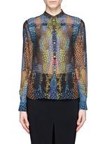 MCQ ALEXANDER MCQUEENRainbow crocodile print silk blouse
