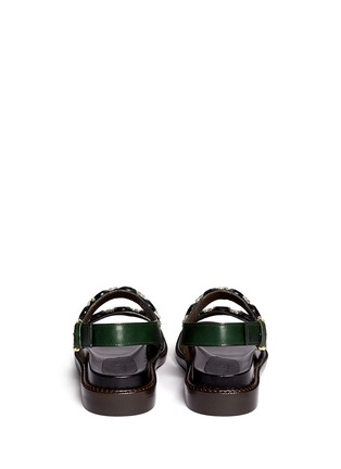 Back View - Click To Enlarge - Marni - Crystal strap leather sandals