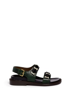 MARNI Crystal strap leather sandals