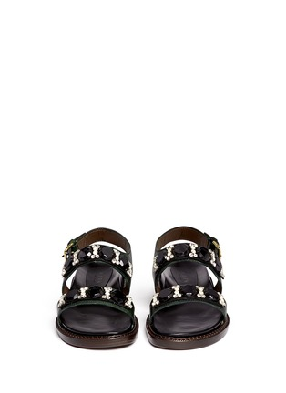 Figure View - Click To Enlarge - Marni - Crystal strap leather sandals