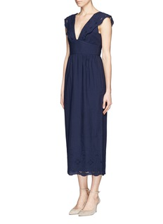 J. CREWCollection scalloped eyelet dress