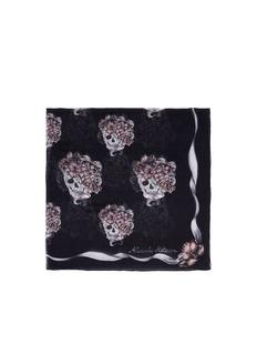 ALEXANDER MCQUEEN'Romantic Skull' silk scarf
