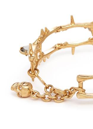 Detail View - Click To Enlarge - Alexander McQueen - Skull vine chain bracelet