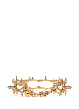 Back View - Click To Enlarge - Alexander McQueen - Skull vine chain bracelet