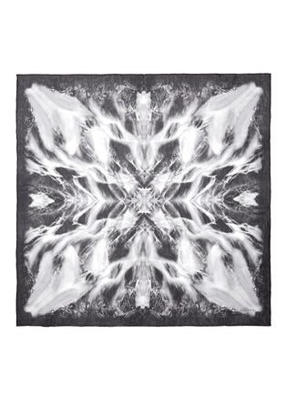 Detail View - Click To Enlarge - Alexander McQueen - Silk waterfall scarf