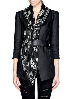 ALEXANDER MCQUEENClassic skull print silk scarf