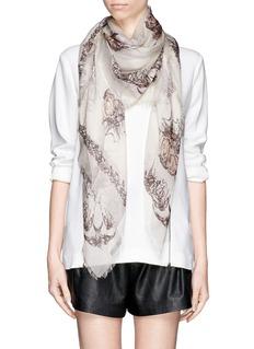 ALEXANDER MCQUEENBird skull modal-silk scarf