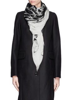 ALEXANDER MCQUEEN'Art Nouveau' skull modal-silk scarf