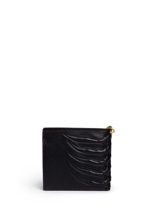 Back View - Click To Enlarge - Alexander McQueen - Spinal cord chain bi-fold wallet