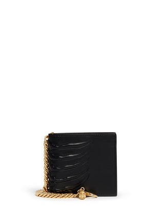 Main View - Click To Enlarge - Alexander McQueen - Spinal cord chain bi-fold wallet