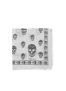 ALEXANDER MCQUEENClassic skull modal-silk scarf