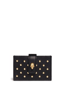 ALEXANDER MCQUEEN Skull accordian stud leather card case
