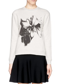 WHISTLES Floral print cotton sweatshirt
