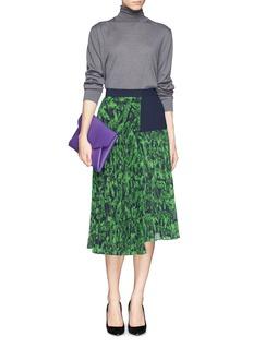 WHISTLES'Anais' Floral Print Asymmetric Skirt