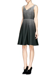 HELEN LEEOriental print ombré flare dress