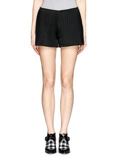HELEN LEENeoprene pleat shorts