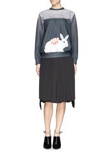 HELEN LEERabbit icon Oriental print pullover