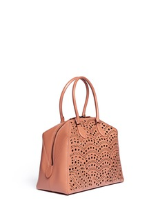 AZZEDINE ALAÏA Perforated leather tote