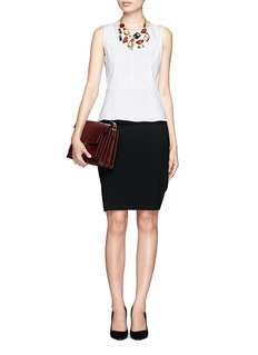 ST. JOHN Basic crepe marocain pencil skirt