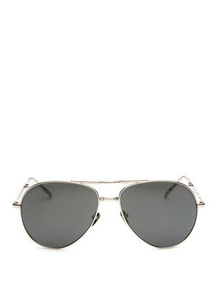 Main View - Click To Enlarge - Linda Farrow - Titanium folding aviator sunglasses