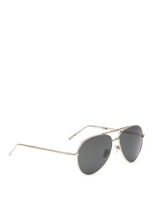Figure View - Click To Enlarge - LINDA FARROW VINTAGE - Titanium folding aviator sunglasses