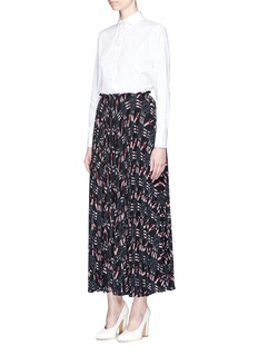 Valentino 'Love Blade' print pleated maxi skirt