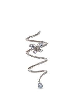 Stéfère'Butterfly' diamond sapphire 18k white gold spiral ring