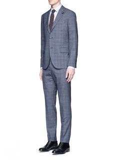 LardiniWindowpane check wool suit