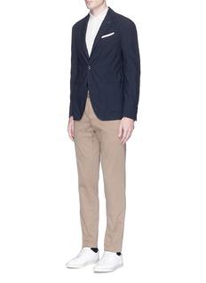 LardiniMicro gingham check soft blazer