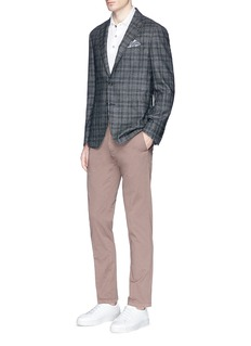Lardini 'Sartoria' check plaid soft silk blazer