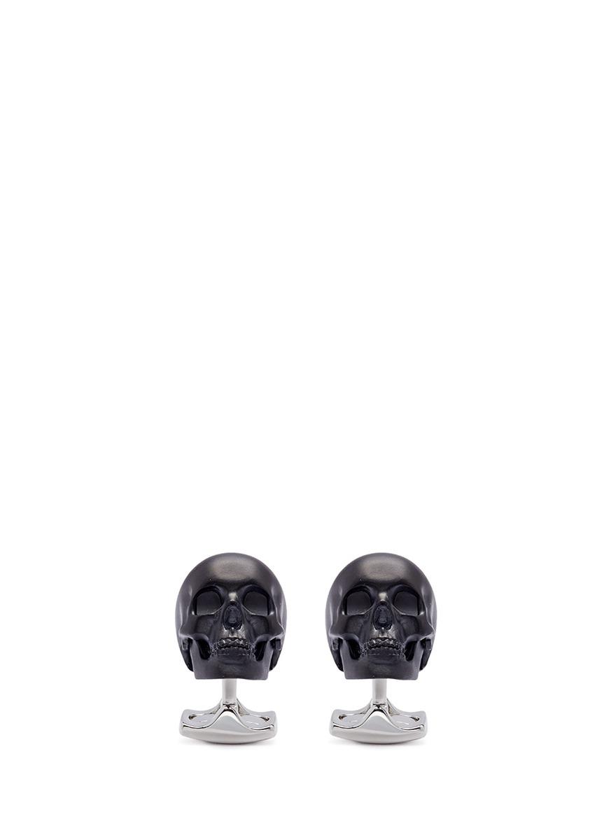 deakin francis male light up skull cufflinks