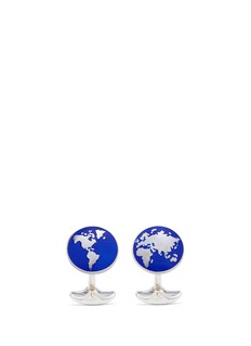 DEAKIN & FRANCIS世界版图图案纯银袖扣
