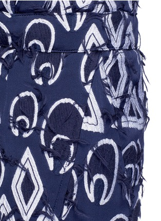 Detail View - Click To Enlarge - Chloé - Geometric frayed jacquard dropped crotch pants