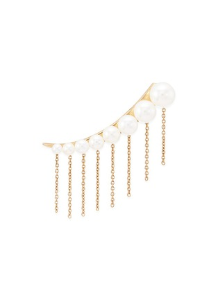 Main View - Click To Enlarge - Sophie Bille Brahe - x sacai 001 short chain fringe pearl single creeper earring
