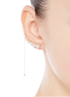 Sophie Bille Brahe x sacai 003 chain drop pearl single creeper earring