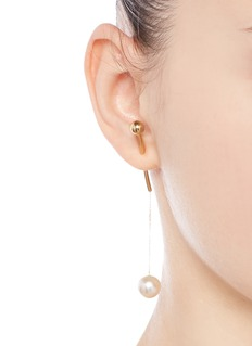 Sophie Bille Brahe x sacai 006 pearl drop 14k yellow gold single earring
