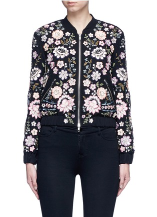 Main View - Click To Enlarge - Needle & Thread - 'Embroidery Lace' embellished bomber jacket