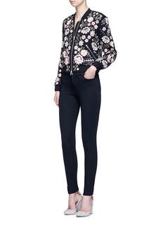 NEEDLE & THREAD'Embroidery Lace' embellished bomber jacket