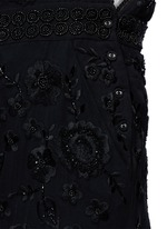 Floral embroidery embellished georgette dungarees