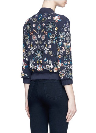 Back View - Click To Enlarge - Needle & Thread - 'Butterfly Garden' floral embellished bomber jacket