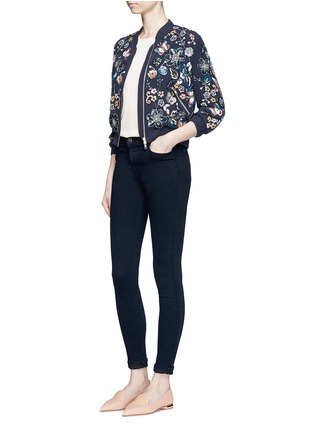 Figure View - Click To Enlarge - Needle & Thread - 'Butterfly Garden' floral embellished bomber jacket
