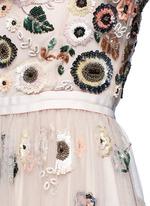 'Woodland' lace trim embellished tulle dress